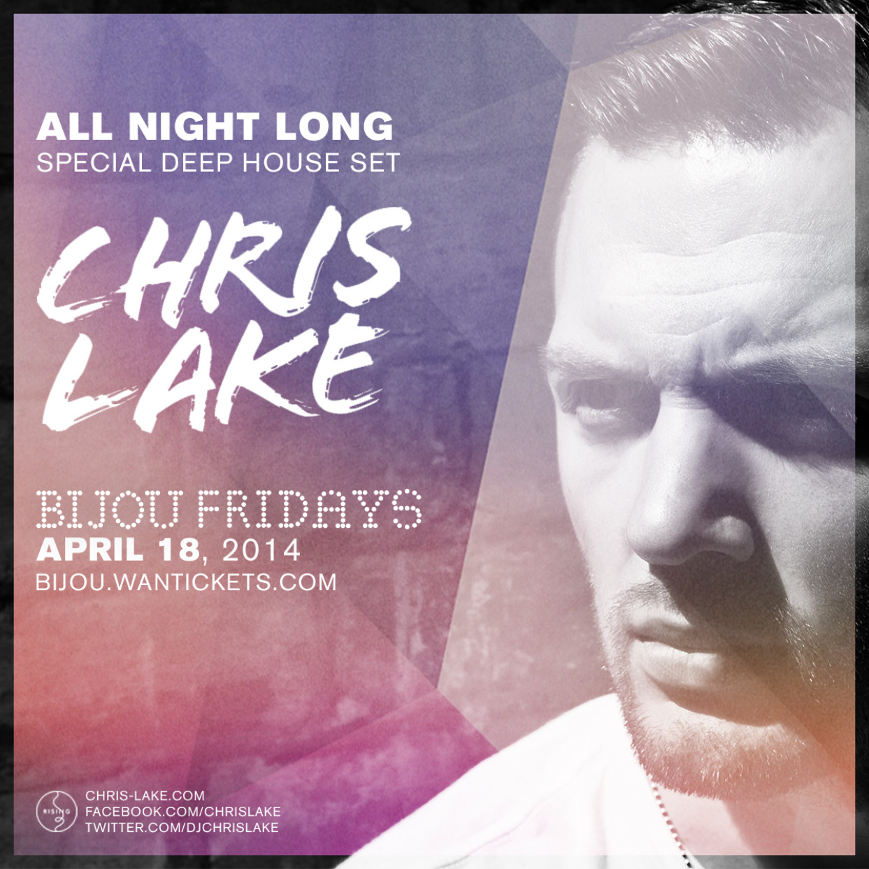 Chris Lake Live at the Bijou in Boston, Mass (Deep Mix) April 14th