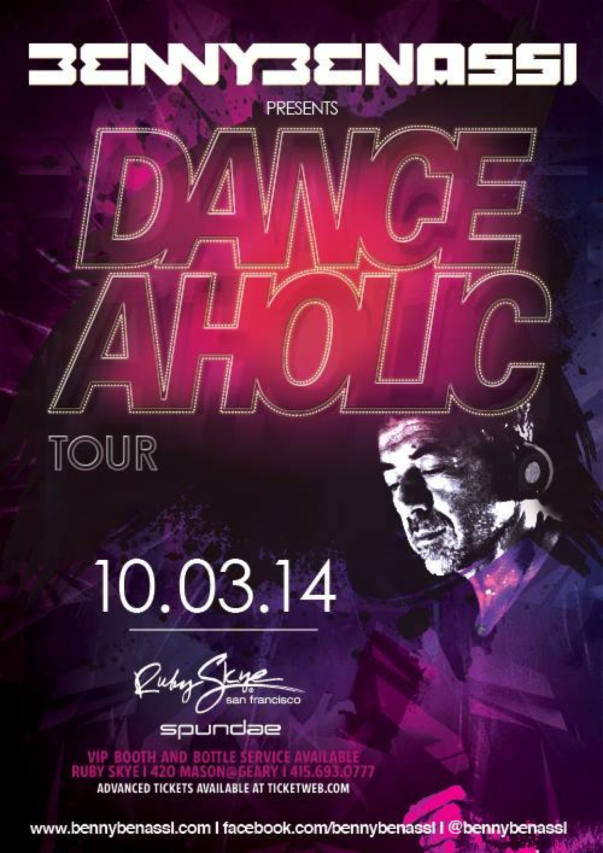 Preview – BENNY BENASSI at Ruby Skye Friday Oct 3rd