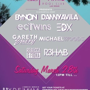 Foxtail Pool Club in Miami Saturday March 28th – Preview