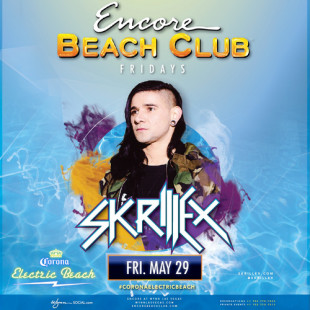 Skrillex at Corona's Electric Beach 5/29 in Las Vegas